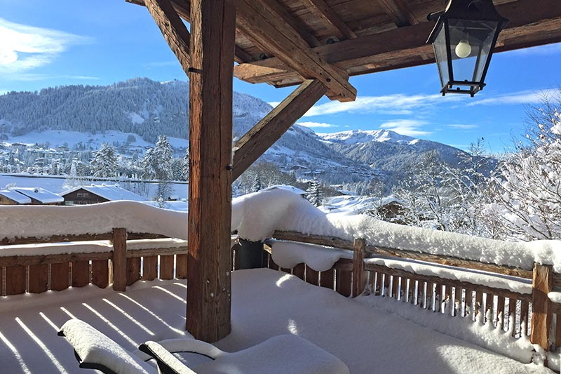Chalet in megeve under snow