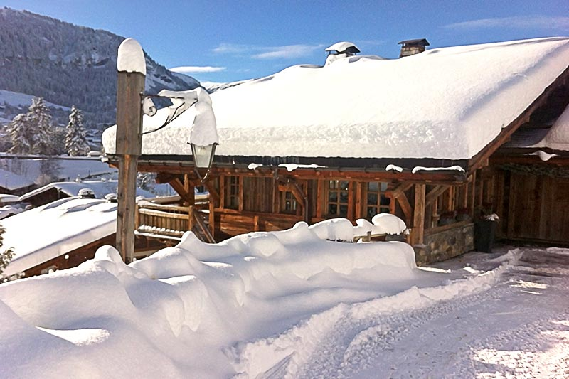 Chalet Megeve in winter